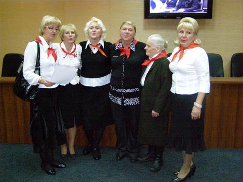 Пионерские вожатые, встреча, 2009 год.