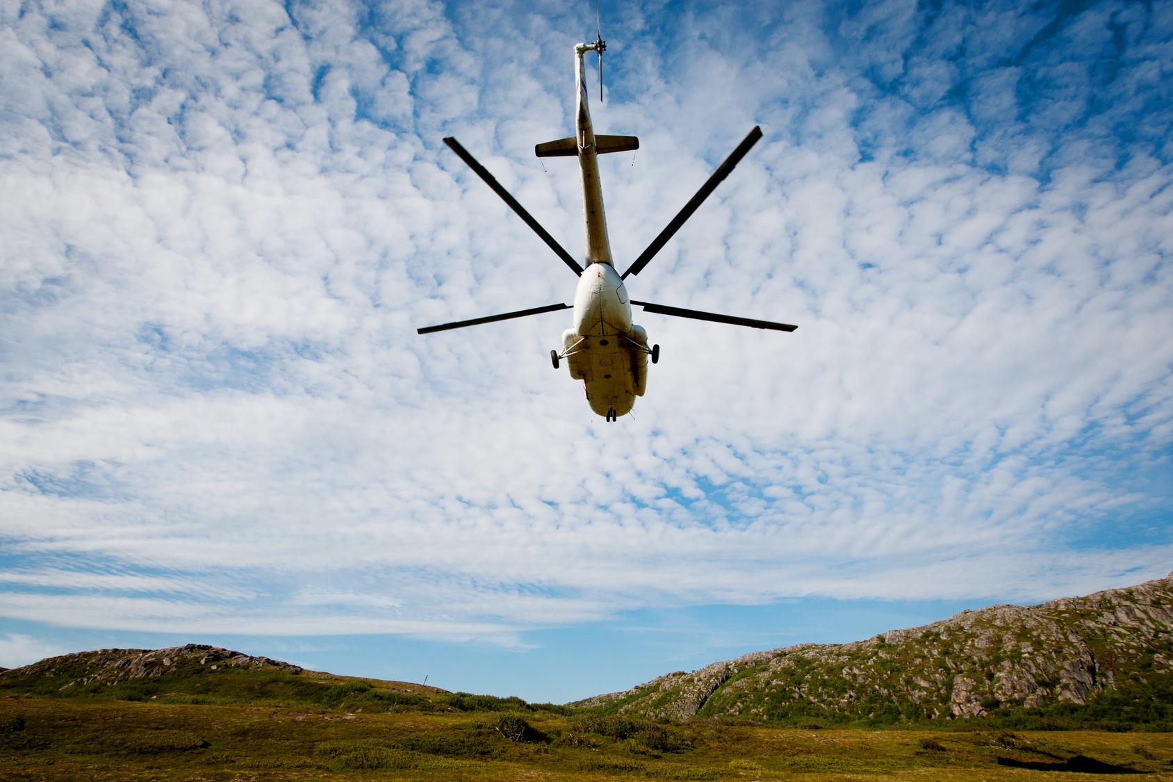 Вертолёт упал