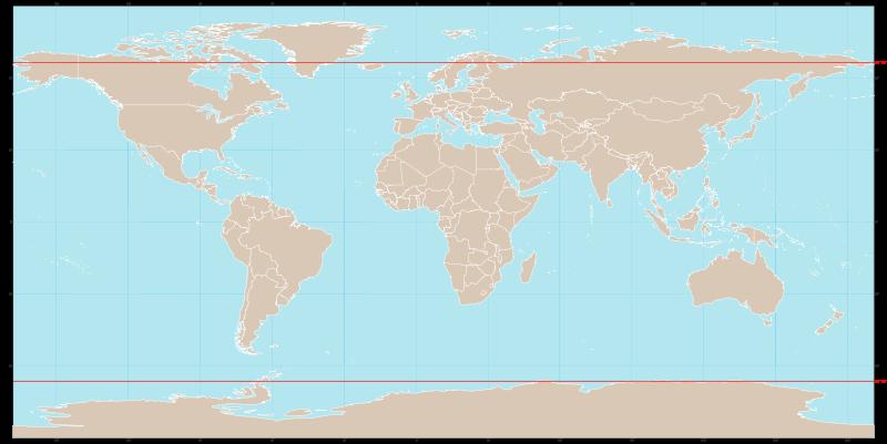 Полярный круг на карте
