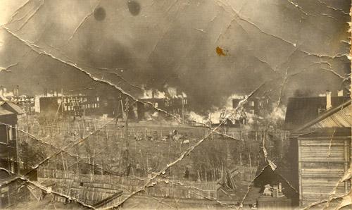 Большой пожар Игарки