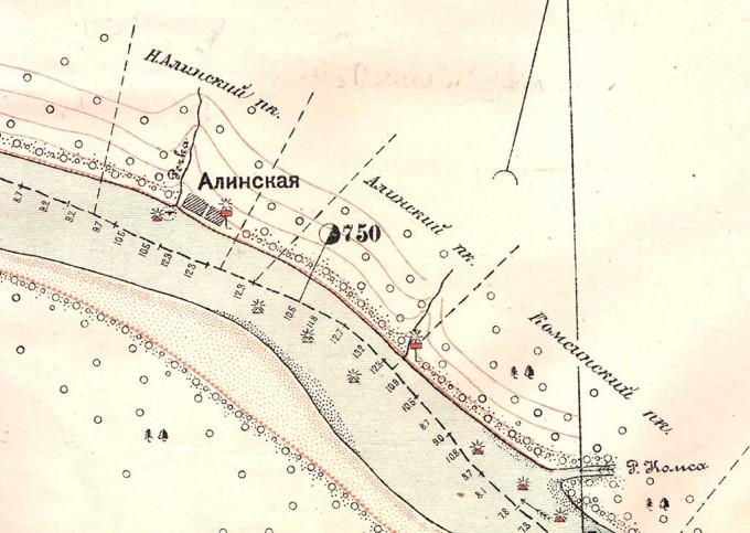 Деревня Алинская на карте