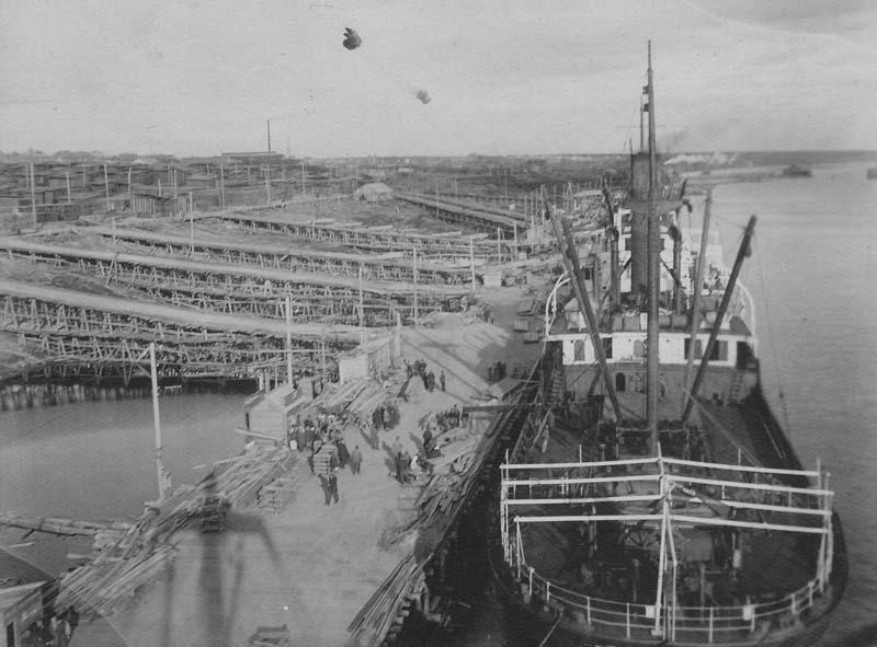 Причал морских судов лесокомбината, 1935 год.