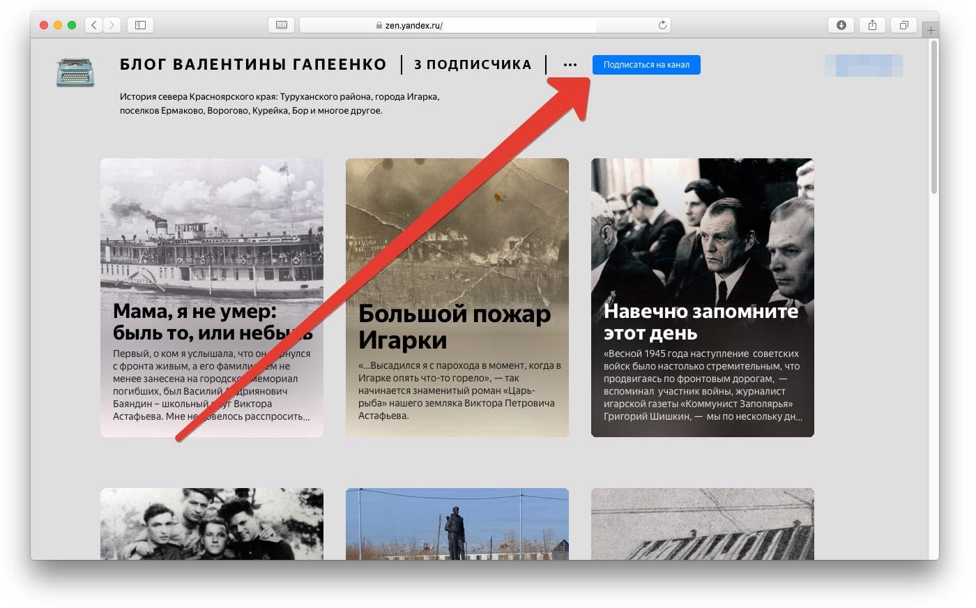Подписка на Яндекс.Дзен